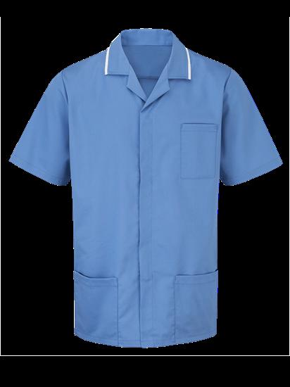 male advantage tunic in metro blue